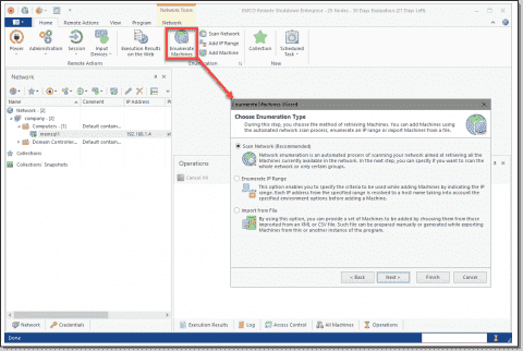 EMCO Remote Shutdown - Free power and session management for Windows