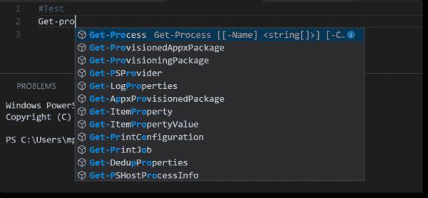 IntelliSense in VSCode
