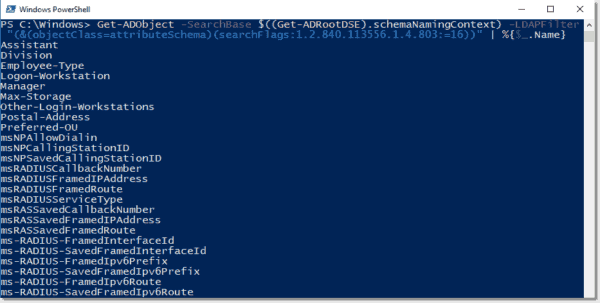 PowerShell output names only