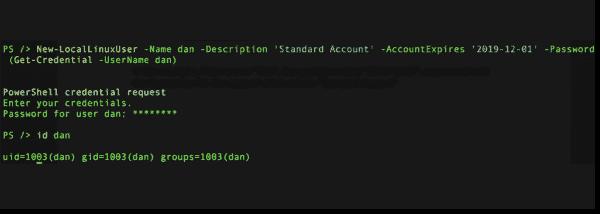 Running New LocalLinuxUser