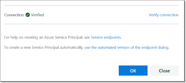 Service Endpoint Verified