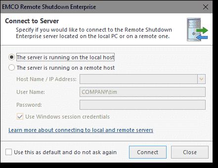 The Enterprise Edition uses a client server model