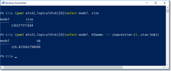 Converting bytes into GB