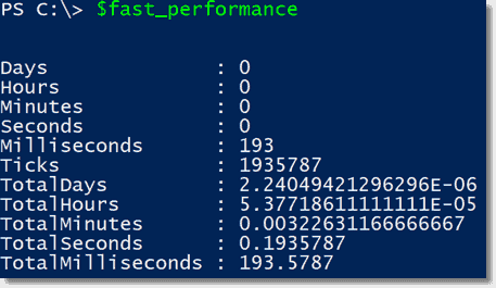 Fast array performance