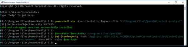 Installing OpenSSH