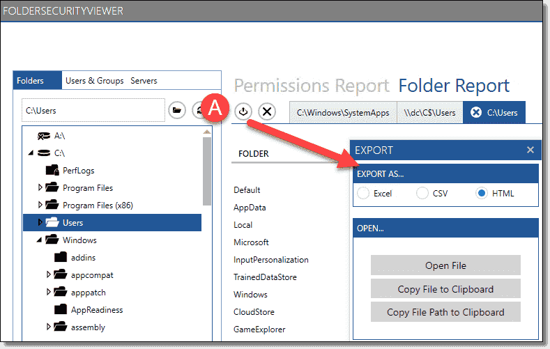 Create local and remote NTFS permissions reports with G-TAC FolderSecurityViewer