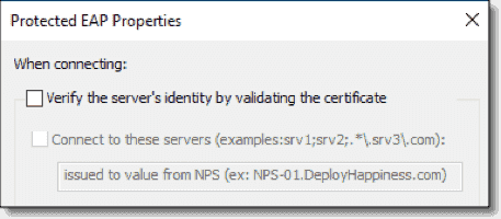 Testing certificate validation issues with Always On VPN connections
