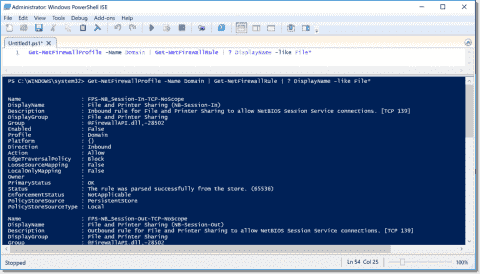 Managing the Windows Firewall with PowerShell
