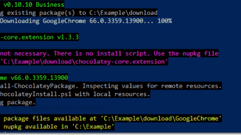 Install internalized Chocolatey packages from your offline repository