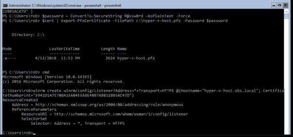 New HTTPS listener