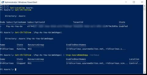 Mount an Azure drive using PowerShell