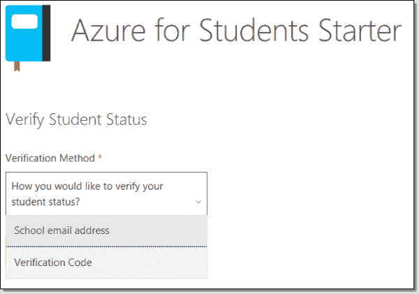 Azure for Students subscription methods