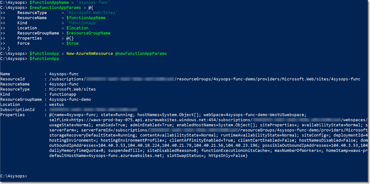 How to write an Azure Function in PowerShell – 4sysops