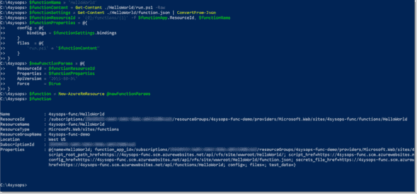 Deploy the Azure function