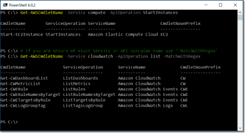 Install AWS Tools for PowerShell Core