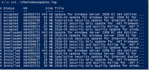 Install Windows updates remotely with the PowerShell