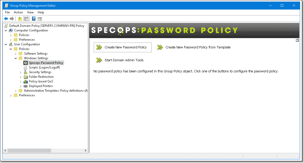 Specops Password Policy – Extend Active Directory account