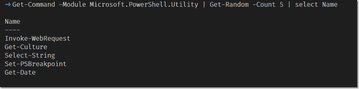 Example casing for cmdlets in PowerShell