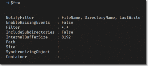 The System.IO.FileSystemWatcher .NET Class: Raise file system notifications in PowerShell
