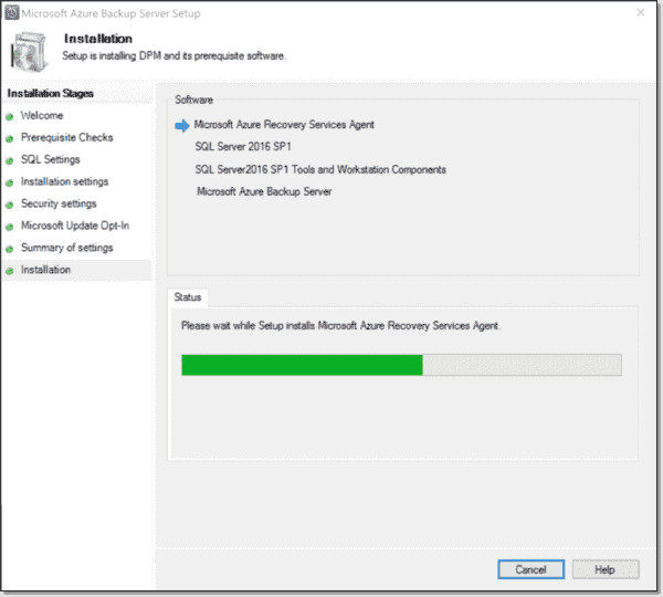 Installation initialization