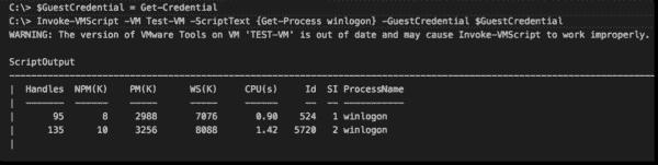 Running Invoke VMScript