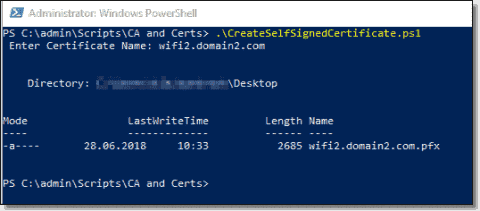 Create a self-signed certificate with PowerShell