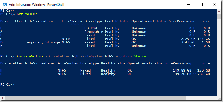 Managing disks with PowerShell – 4sysops