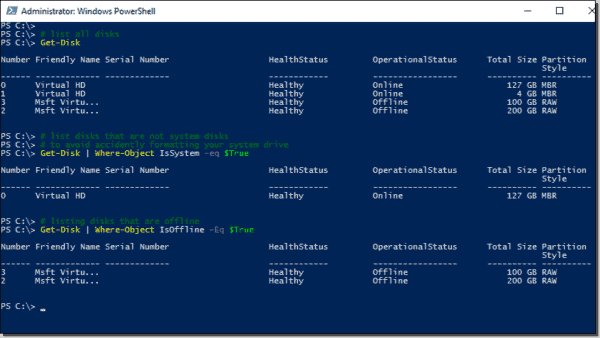 List disks with PowerShell
