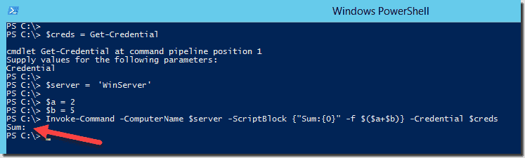 Local variable in a remote session