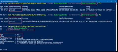 Manage Azure Table storage using PowerShell