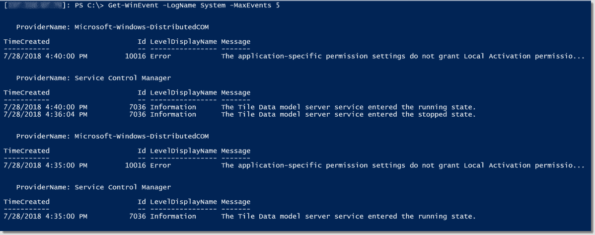 Query multiple Windows event logs with PowerShell