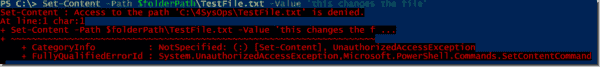 Attempting to change a read only file