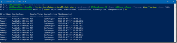 Collecting VM performance counters from OMS
