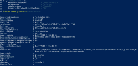 Create an Azure SQL database with PowerShell