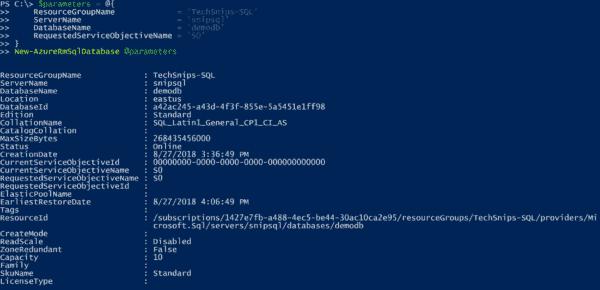 Creating an Azure SQL database
