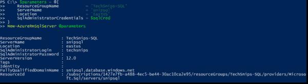 Creating an Azure SQL server