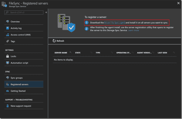 Download the AFS agent