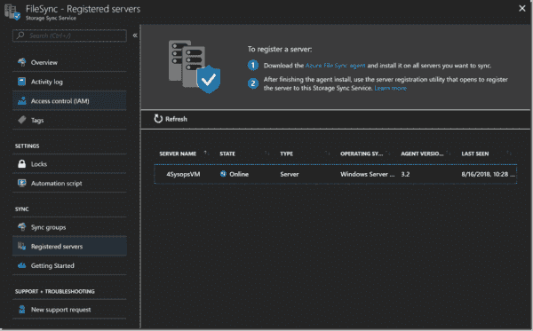 Verifying the server registration