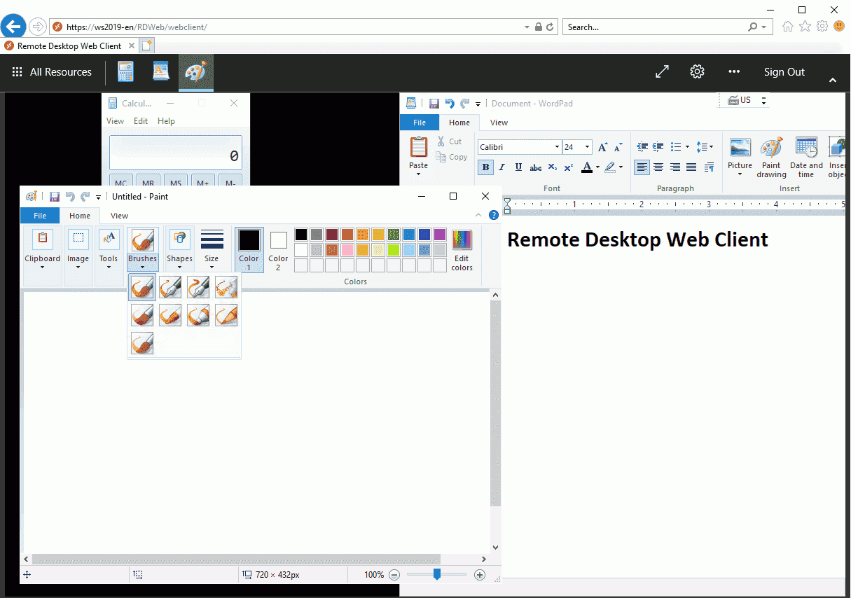 Remote Desktop Web Client: installation, functions