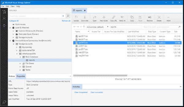 Azure Storage Explorer