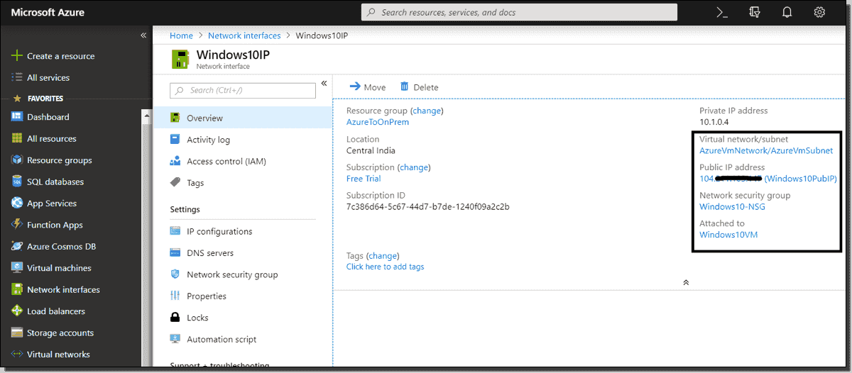Join an Azure VM to an on-prem Active Directory – 4sysops