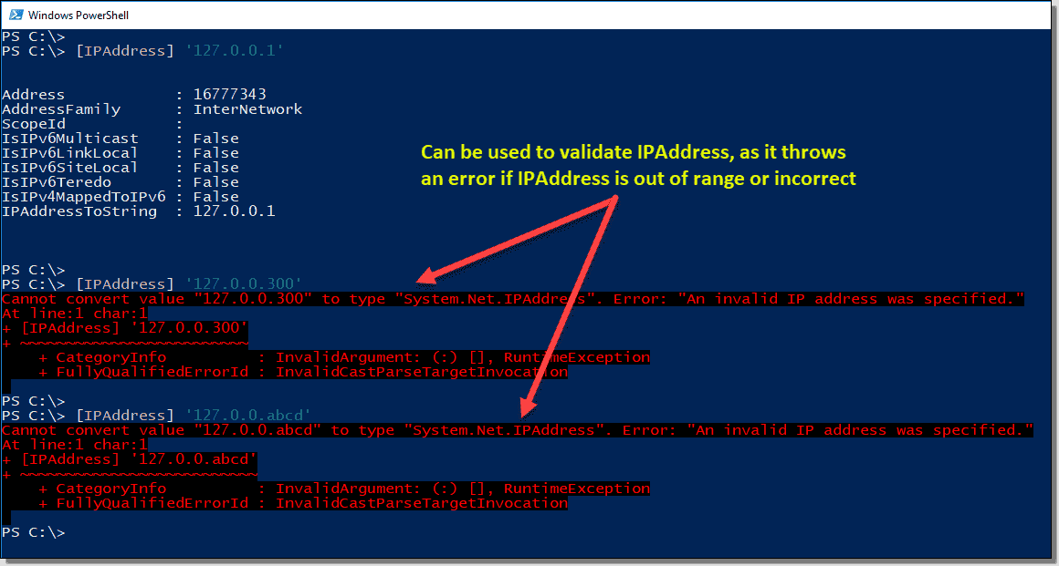 IP address type accelerator
