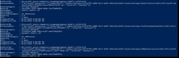 Inspecting Azure usage
