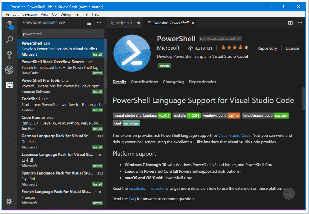 Make Visual Studio Code look and behave like PowerShell ISE – 4sysops
