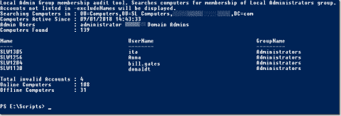 Find users with administrator rights on certain computers using PowerShell