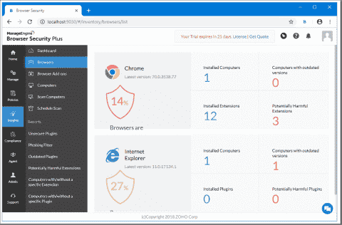 ManageEngine Browser Security Plus - Centrally manage web browsers