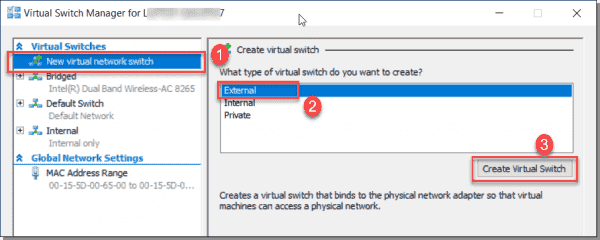 Creating a virtual switch