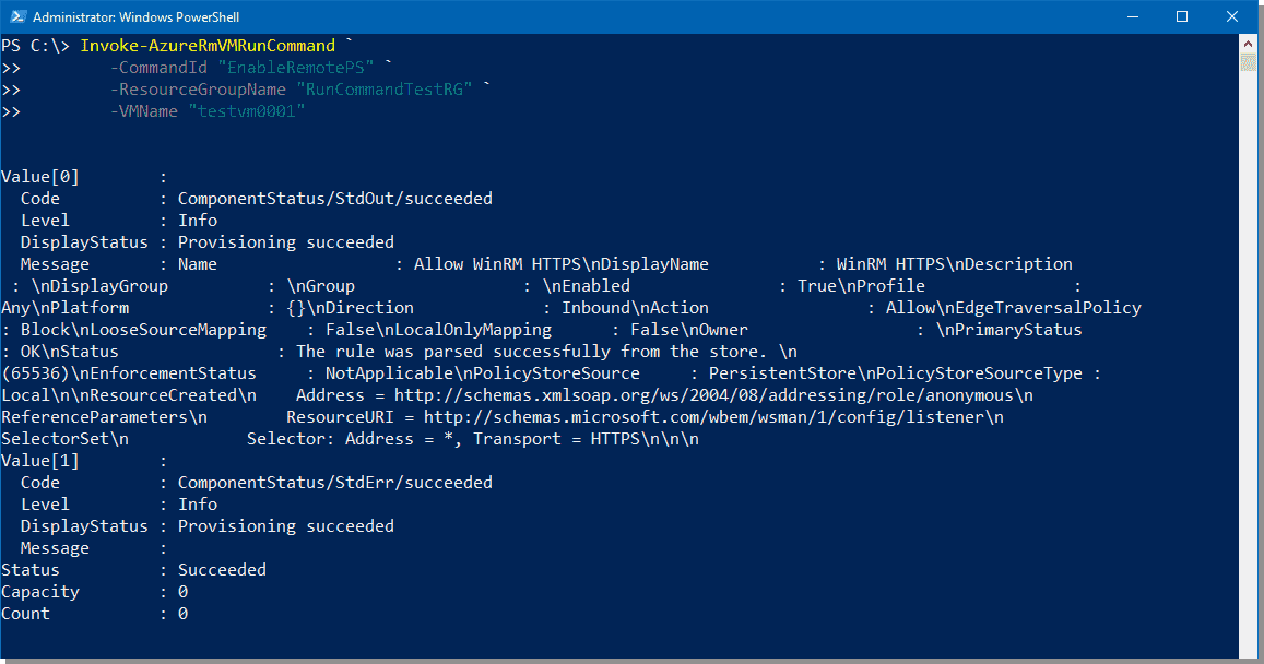 Running PowerShell commands on Azure VMs – 4sysops