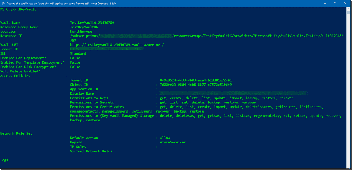 Find expired certificates in Azure using PowerShell