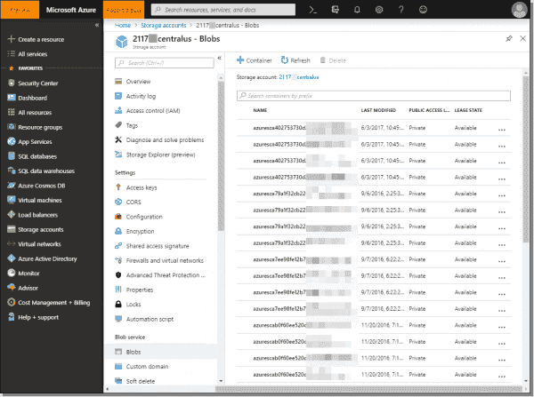 Interacting with your blob data in Azure